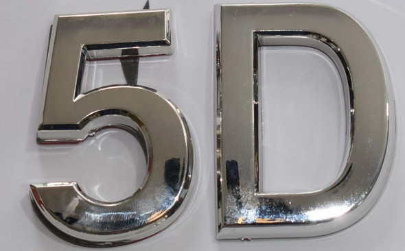 Apartment Number 5D Sign/Mailbox Number Sign,