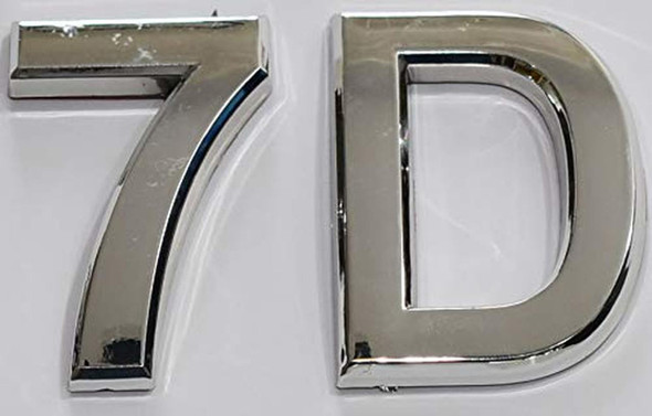 Apartment Number 7D Sign/Mailbox Number Sign,