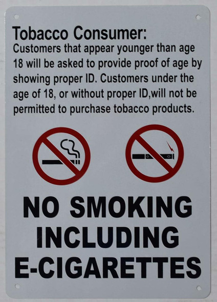 Tobacco Consumer Notice Sign - for