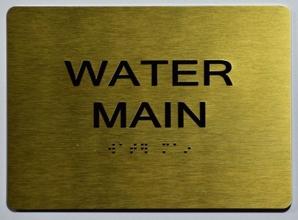 WATER MAIN Sign -Tactile Signs Tactile