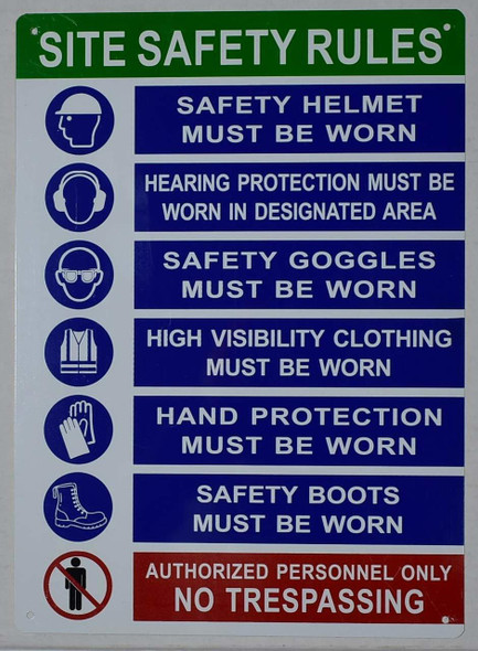 PPE Sign - Site Safety Rules