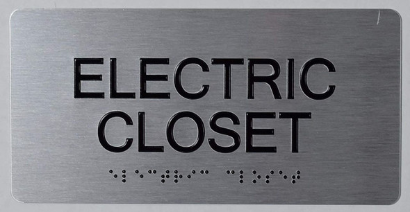 SIGNS Electric Closet -Tactile Touch Braille Sign