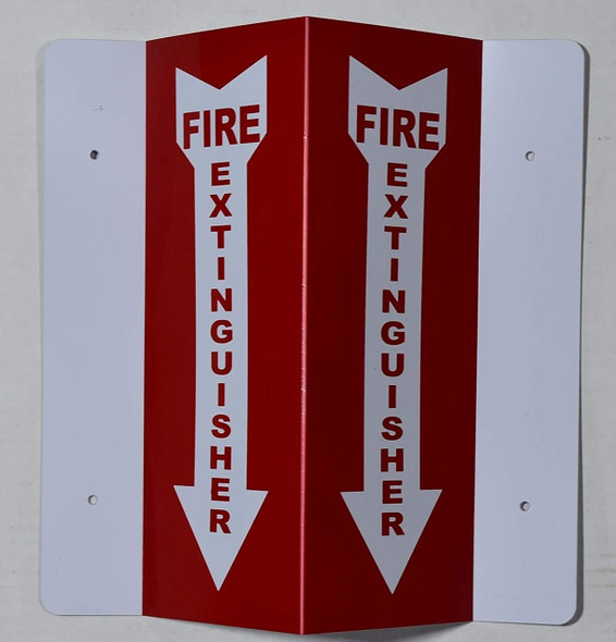 Fire Extinguisher 3D Projection Sign (red,Plastic,10x4