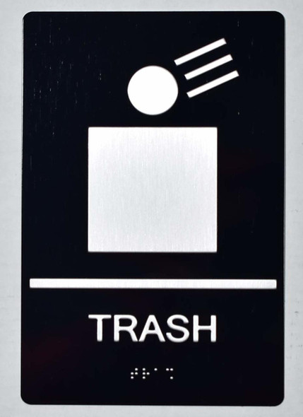 Trash Sign -Tactile Signs Tactile Signs
