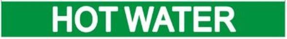 HOT WATER SIGN (STICKER 1X8) GREEN-(ref062020)