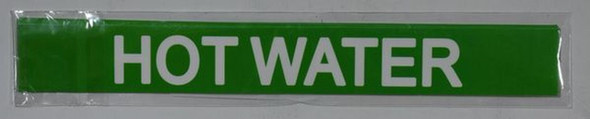 SIGNS HOT WATER SIGN (STICKER 1X8) GREEN-(ref062020)