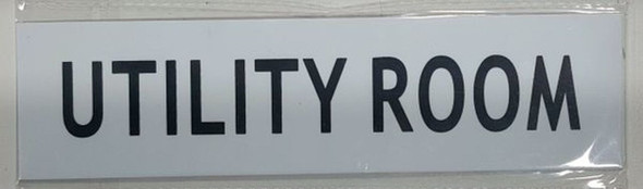 SIGNS UTILITY ROOM SIGN - PURE WHITE