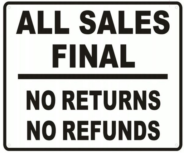 ALL SALES FINAL SIGN ( RUST