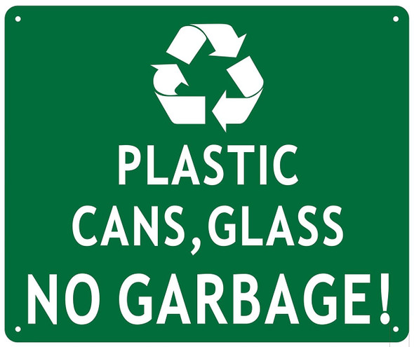 Plastic CANS and Glass NO Garbage
