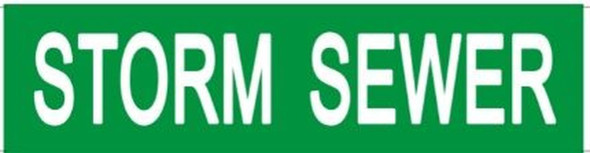 STORM SEWER SIGN (STICKER 2X8) GREEN-(ref062020)