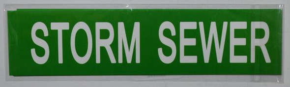 SIGNS STORM SEWER SIGN (STICKER 2X8) GREEN-(ref062020)