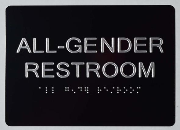 SIGNS All Gender Restroom Sign -Tactile Signs