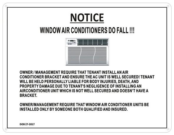 Window AIR CONDITIONERS Sign (Aluminum Sign