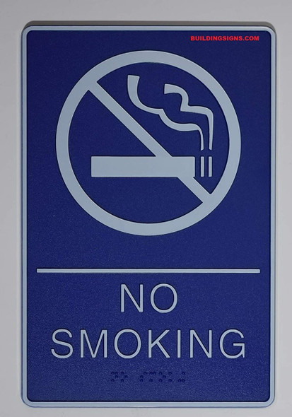 SIGNS ADA NO Smoking Sign with Braille