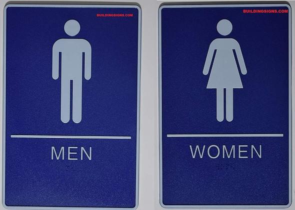 SIGNS ADA Men & Women Restroom Sign