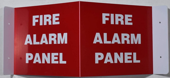 SIGNS FIRE Alarm Panel Sign 3D Projection
