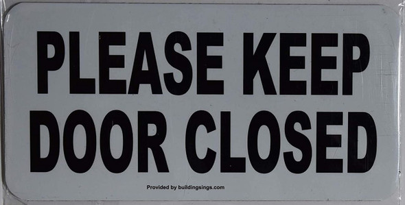 SIGNS 2 Pack-Please Keep Door Closed Sign
