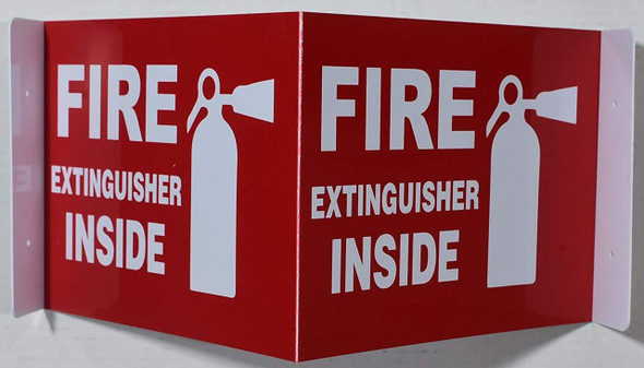 Fire Extinguisher Inside Sign 3D Projection