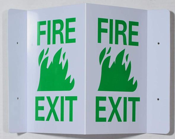 FIRE EXIT 3D Projection Sign/FIRE EXIT