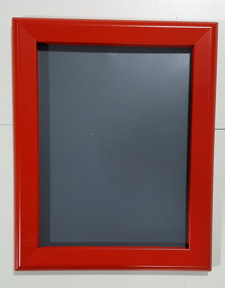 SIGNS Red Snap Frame 8.5x11 Inches Front