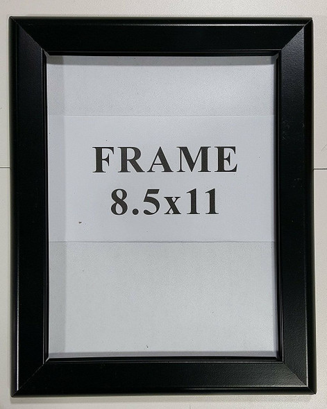 Black Snap frame 8.5x11 Inches Front