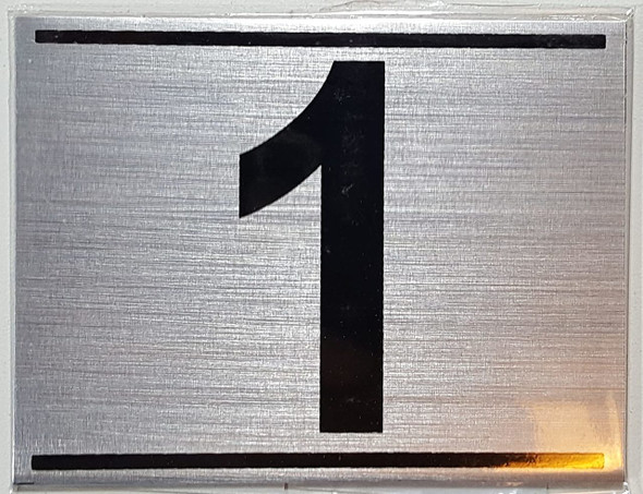 APARTMENT NUMBER ONE (1) SIGN -