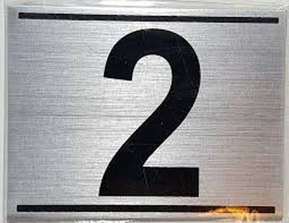 APARTMENT NUMBER TWO (2) SIGN -
