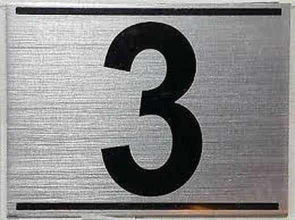APARTMENT NUMBER THREE (3) SIGN -