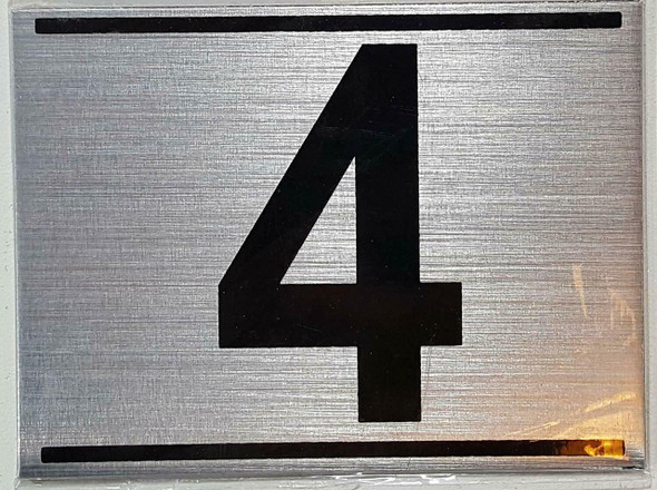 APARTMENT NUMBER FOUR (4) SIGN -