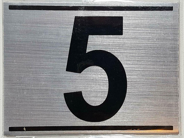 APARTMENT NUMBER FIVE (5) SIGN -