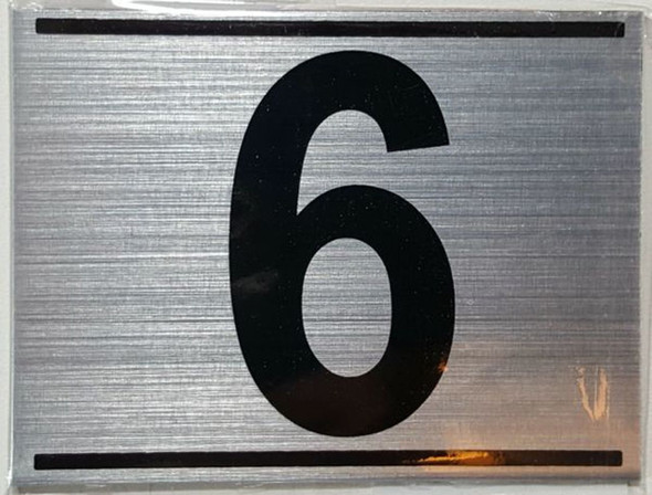 APARTMENT NUMBER SIX (6) SIGN -
