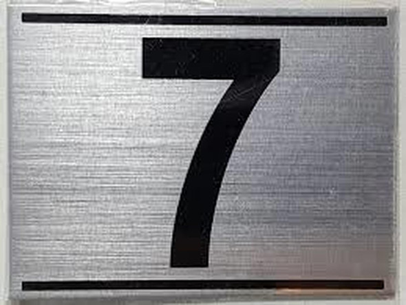 SIGNS APARTMENT NUMBER SEVEN (7)SIGN - -BRUSHED