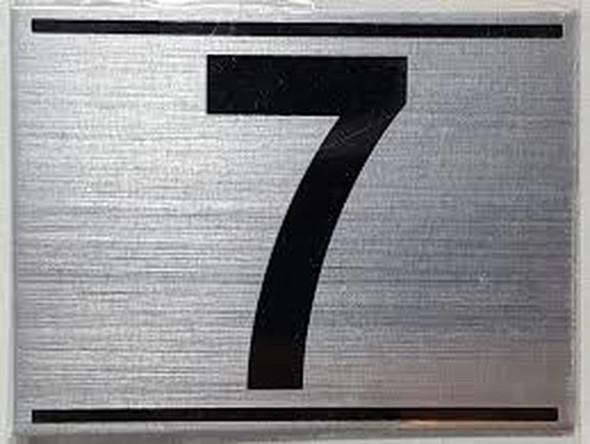 APARTMENT NUMBER SEVEN (7)SIGN - -BRUSHED