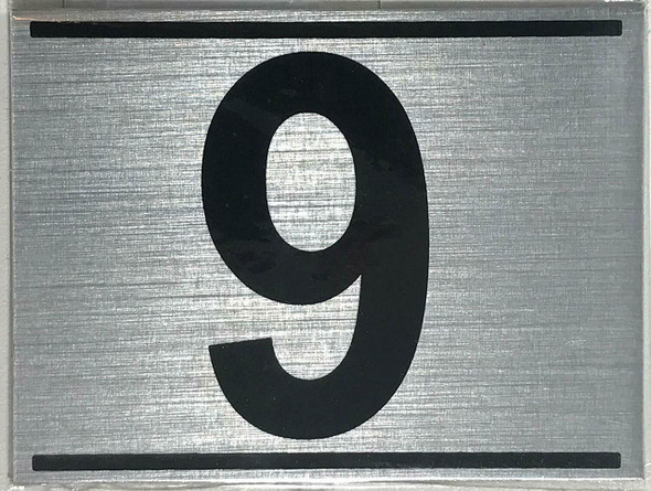 APARTMENT NUMBER NINE (9) SIGN -