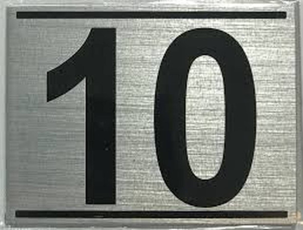 APARTMENT NUMBER TEN (10) SIGN -