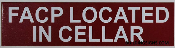 SIGNS FACP Located in Cellar Sign (RED,Double