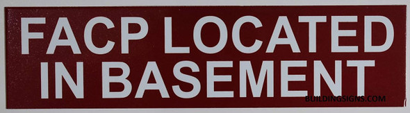 SIGNS FACP Located in Basement Sign (RED,Double