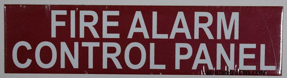 SIGNS FIRE Alarm Control Panel Sign (RED,Double