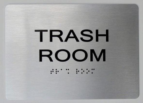 TRASH ROOM Sign ADA Sign -Tactile