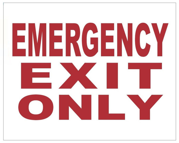 EMERGENCY EXIT ONLY SIGN (WHITE 4