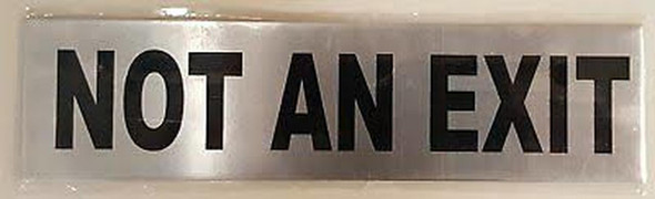 NOT an EXIT Sign (Brush Aluminium