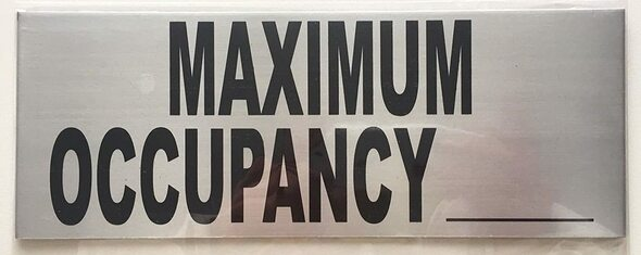 SIGNS Maximum Occupancy Sign ( 8x 3