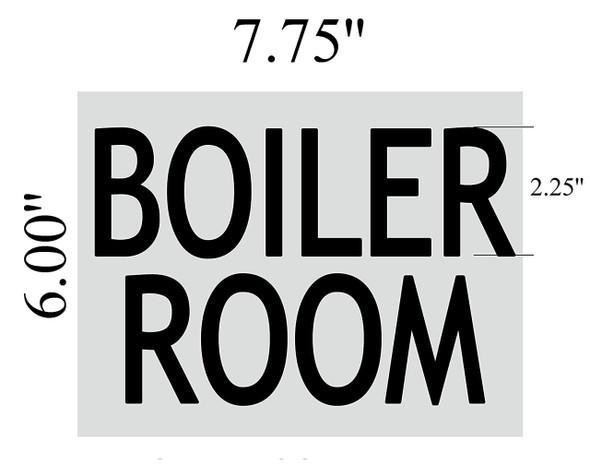 SIGNS BOILER ROOM SIGN (BRUSHED ALUMINUM 6x7.75)-(ref062020)