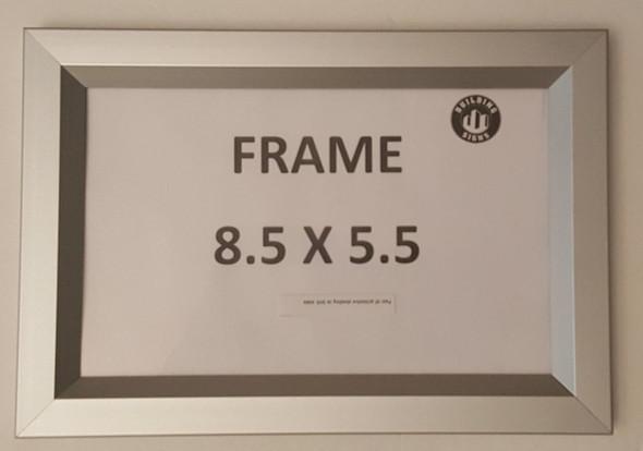 License Permit Frame 8.5x5.5 VA (