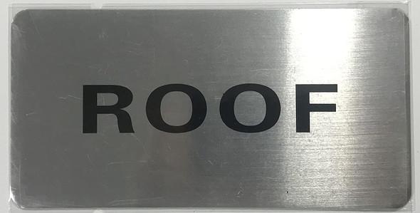 SIGNS ROOF Floor Sign (Brush Aluminium, 5X8)-The