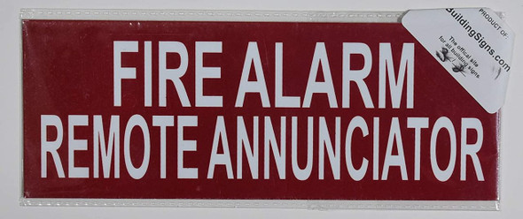 SIGNS FIRE Alarm Remote Annunciator Sign (RED,Double