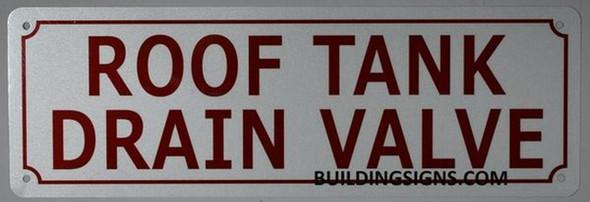 Tank Drain Valve Sign (White Reflective,Aluminium
