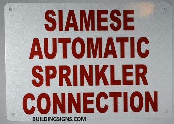 Siamese Automatic Sprinkler Connection Sign- Reflective