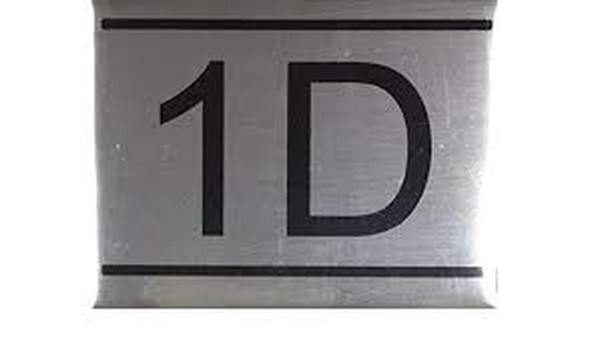 SIGNS APARTMENT NUMBER SIGN -1d -BRUSHED ALUMINUM