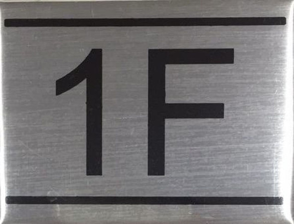SIGNS APARTMENT NUMBER SIGN -1F -BRUSHED ALUMINUM